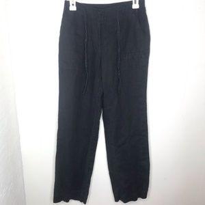 J. Jill Linen Pants Black Drawstring 4